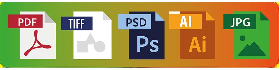Formatos de archivos adecuados - FormatG10